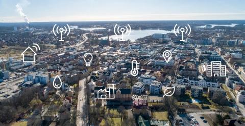 IoT sensorer smarta städer uppkopplad