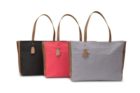 HP 14tommer Ladies Canvas Totes (Red, Grey and Black) Family, Center Facing HP20150727812