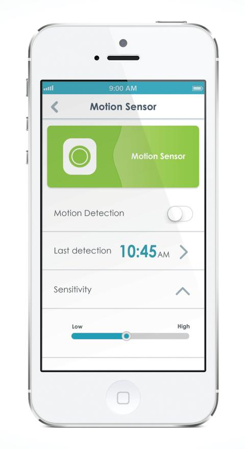 mydlink Home App - Motion Sensor