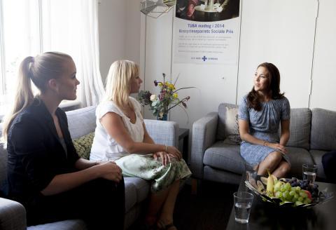 H.K.H Kronprinsessen besøgte børn af misbrugere