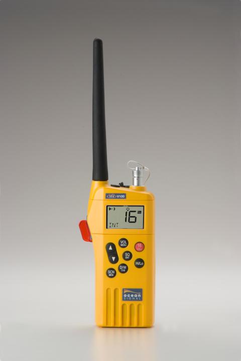 Hi-res image - Ocean Signal - Ocean Signal's SafeSea V100 VHF handheld radio