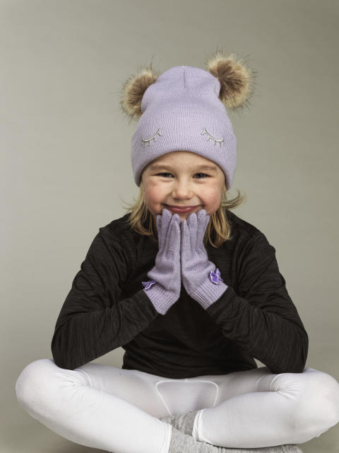 Kids knitted hat and gloves 42932-193, 42535-193