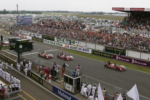 Positions one, two, three and a distance record for the Audi R15 TDI at the 2010 Le Mans 24h