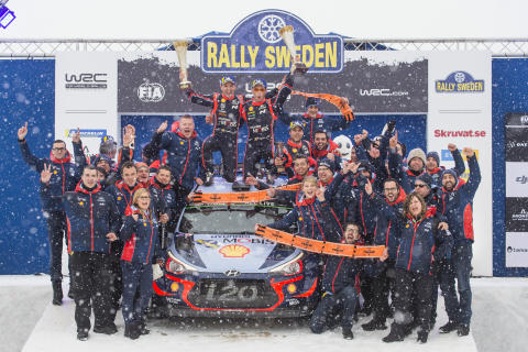 Hyundai Motorsport vinner Rally Sweden
