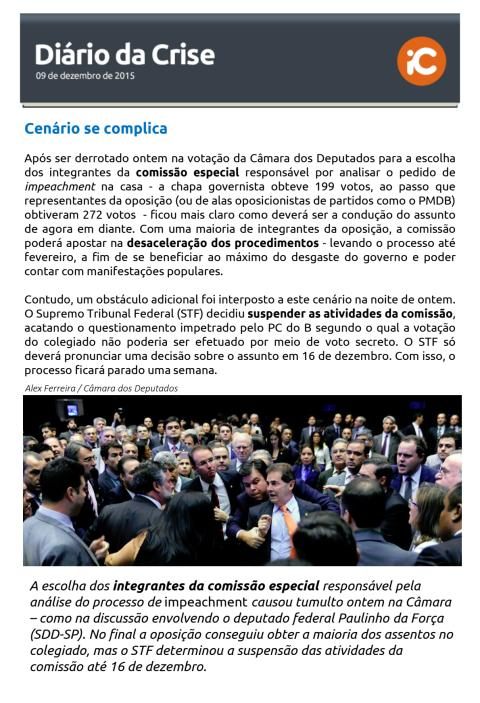 Diário da Crise - 09.12.2015