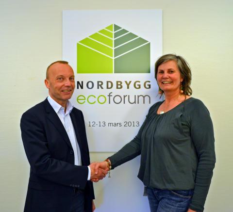 Peter Söderberg, Nordbygg, och Petra Sörme, Svensk Byggtjänst, presenterar ett digert program med många högaktuella talare på Ecoforum 2013