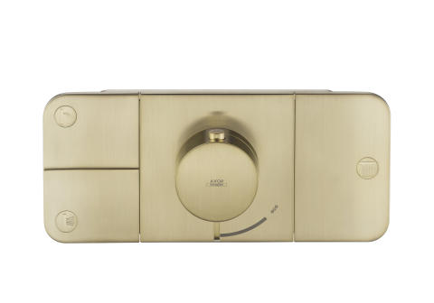 Axor One_Thermostat_Brushed_Brass