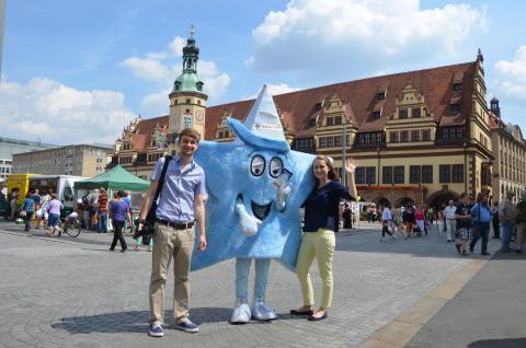 """Holiday on Ice-Maskottchen """"Sternchen"""" zu Besuch in Leipzig"""
