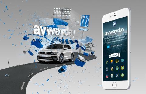 Avwayday − Volkswagen Sverige släpper digital samåkningstjänst för fotbollssupportrar