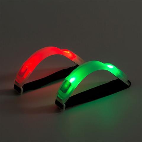 Sportarmband finns i grönt och rött