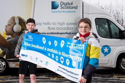 Abernethy pupils get a lesson with fibre broadband