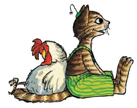 Findus och trött höna - Pettson och Findus - en lekutställning