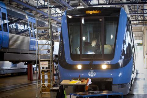 Train in depot 1