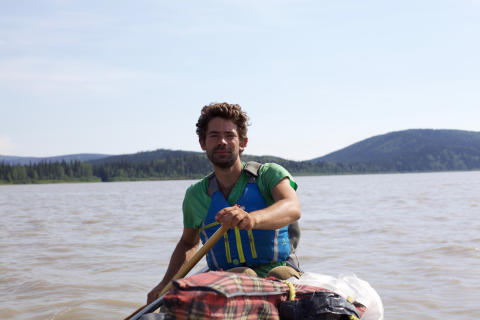Hi-res image - Ocean Signal - Canoeist and writer Adam Weymouth during his journey down the Yukon River