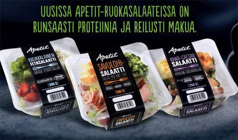 Raikas ja maukas Apetit -ruokasalaatti kuntotestissä