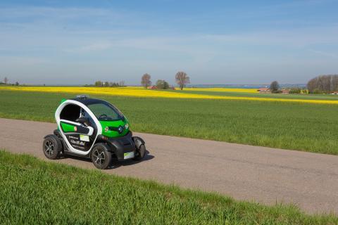 Landskrona Energi laddar för Oresund Electric Car Rally