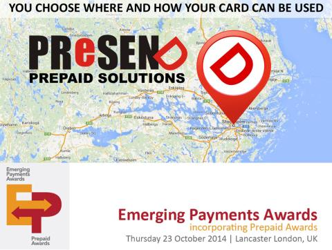 PRESEND and Valitor shortlisted for Best Global Prepaid Gift Programme.