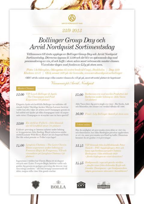 Bollinger Group Day & Arvid Nordquist Sortimentsdag