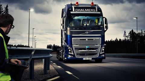 Lastbil för testning av olika automatiserade funktioner