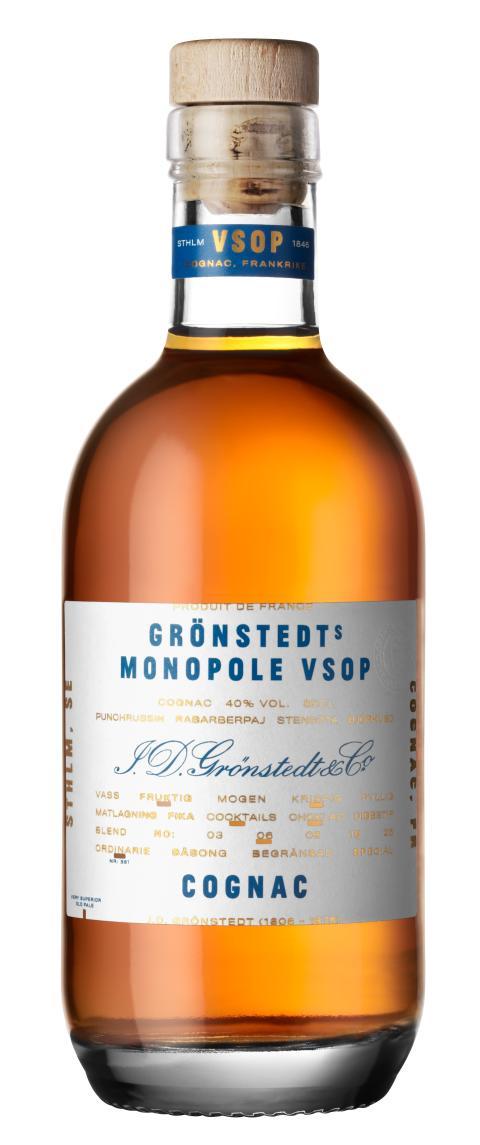 Grönstedts Cognac Monopole VSOP 350 ml
