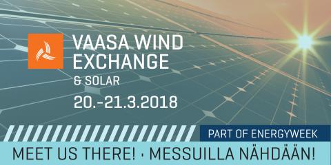 Empower Vaasa Wind Exchange & Solar -tapahtumassa 20.–21.3.