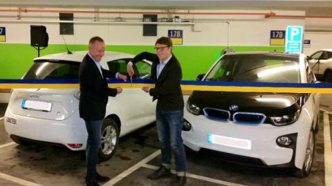 invigning-av-EWAYS laddstationer hos Uppsala Parkering