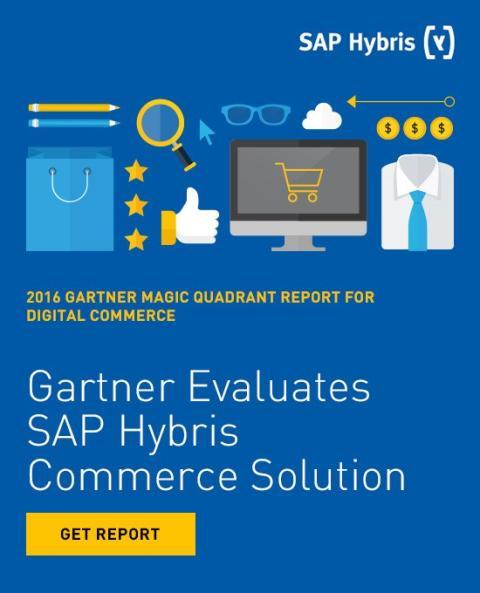 """SAP Hybris utnämns till ledare i Gartner's Magic Quadrant för """"Digital Commerce"""" 2016"""