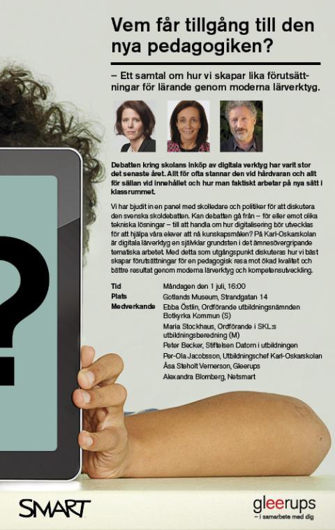 Vem får tillgång till den nya pedagogiken? - seminarium och debatt i Almedalen
