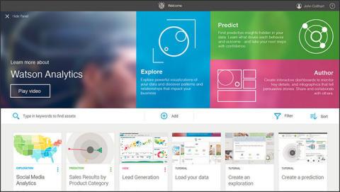 IBM lanserar Watson Analytics en avancerad analystjänst som hanterar dagligt språk