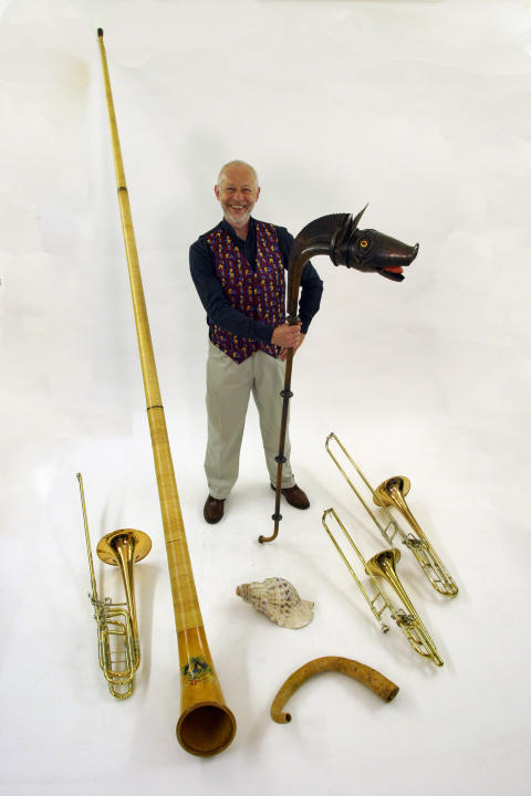John Kenny, with instruments
