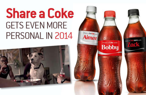 Share a Coke gets even more personal in 2014