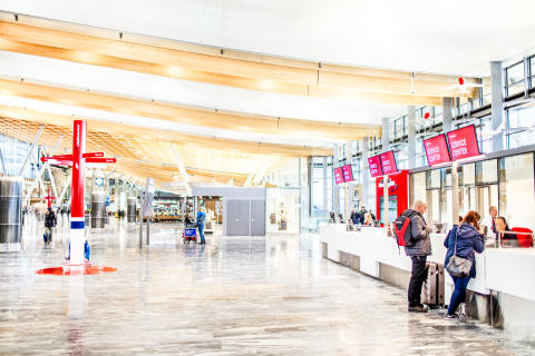 Norwegian's new check-in area at Oslo airport