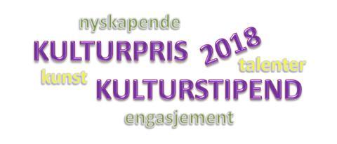 Kulturpris og kulturstipend 2018