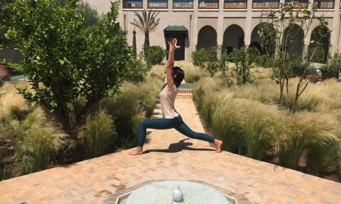 Yoga in green Marrakech_Source NOSADE