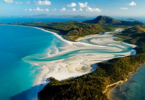 Whitehaven Beach, Australien.