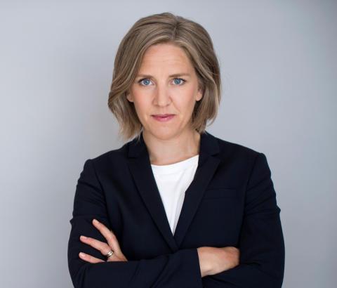Miljöminister Karolina Skog talar på konferensen Gröna idéer
