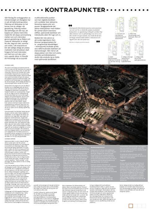Kontrapunkter: Gestaltningsförslag för Clemenstorget och Bangatan
