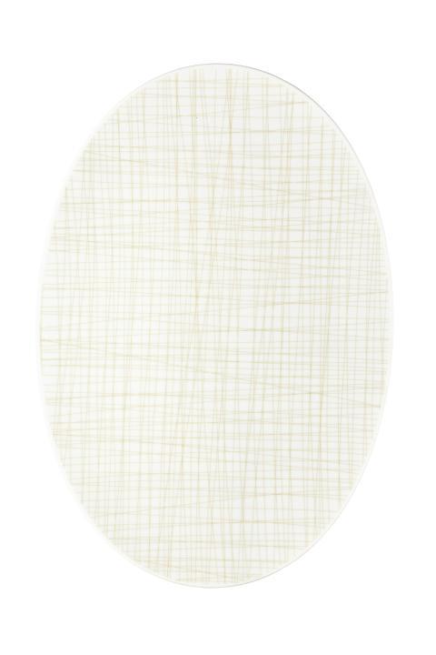 R_Mesh_Line Cream_Platter 42 cm
