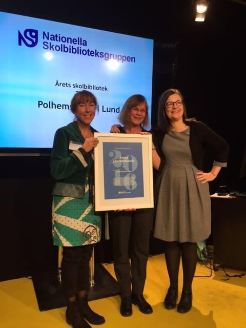 Årets skolbibliotek finns på Polhemskolan i Lund