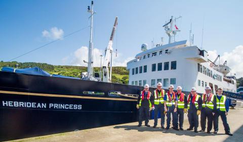 First cruise ship docks in Loch Ryan Port, Cairnryan