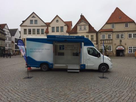 Beratungsmobil der Unabhängigen Patientenberatung kommt am 26. Januar nach Hameln.