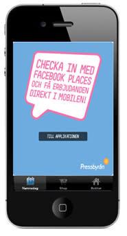 Pressbyrån först med att belöna kunder via Facebook Places