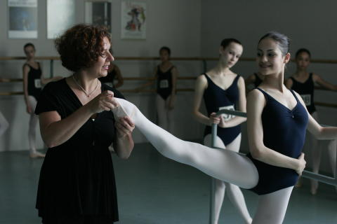 Ballet Girl at Barre
