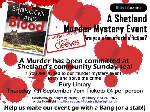 Bannocks and Blood - murder mystery at Bury Library