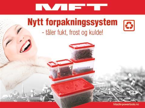 Hitachi Power Tools går over til ny og moderne emballasje på MFT skruer og festemidler