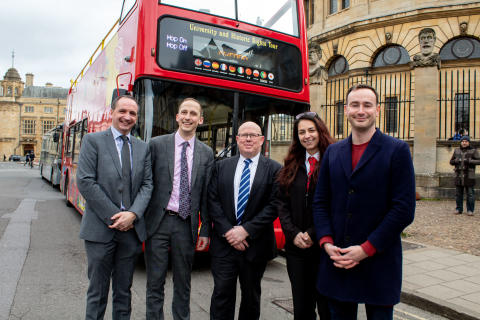 CITY SIGHTSEEING OXFORD LAUNCHES THE FIRST ELECTRIC BUS IN THE CITY