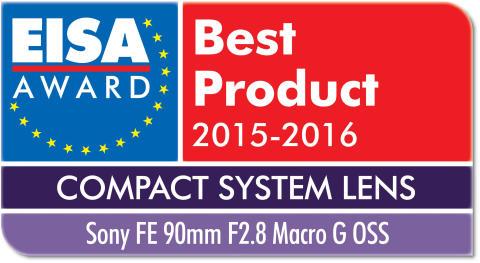 EISA award Sony FE 90mm F2.8 Macro G OSS