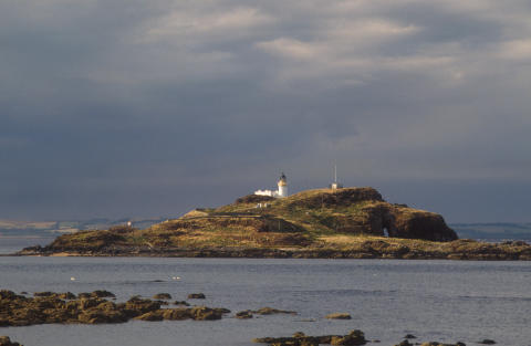 Fidra Island from Yellocraig Beach near North Berwick, East Lothian.