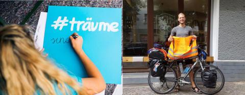 """UNICEF-Aktion """"Träume sind grenzenlos"""": TH-Logistik-Student mit dem Rad auf dem Weg von Berlin zum Nordkap"""