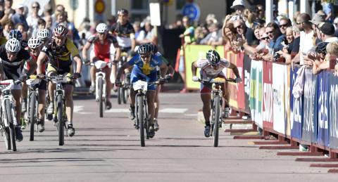 Jennie Stenerhag (nr 302) vinner Cykelvasan 2015